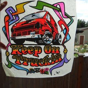 Vintage Keep On Truckin Vortex Iron-On Transfer